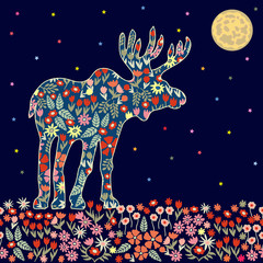 Blooming night elk.