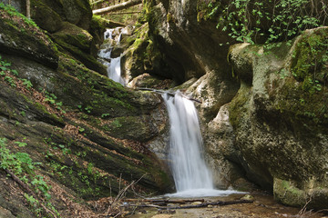Waterfall on stream