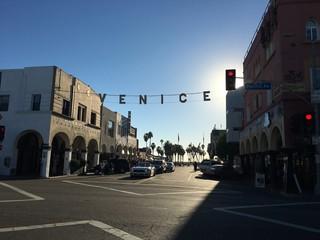 Poster Venetie Venice sign in Venice Beach, California
