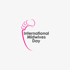 International Midwives day vector logo.
