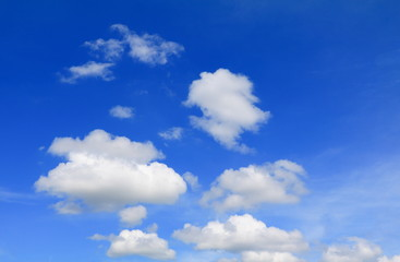 Aluminium Prints Heaven blue sky withcloud and raincloud, art of nature beautiful and copy space for add text