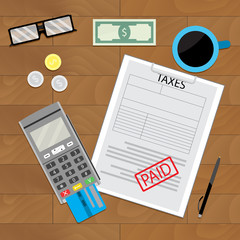 Tax paid, document