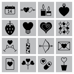 Valentine icon set vector illustration