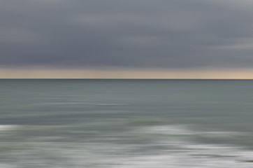 Near the sea background - blurred motion