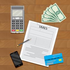 Taxation transaction concept
