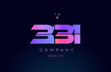 331 pink magenta purple number digit numeral logo icon vector