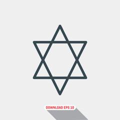 Judaism icon, vector