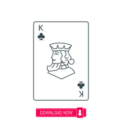 King playing card icon, vector