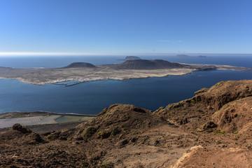 Stunning view of Graciosa Island from Mirador del Rio, Lanzarote, Canary Islands, Spain, Lanzarote, Europe