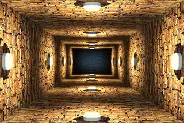 Tunel ceglany 3D