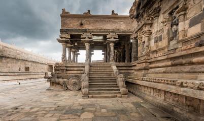 Ancient Hindu temple in Tamil Nadu, India built by Chola kings