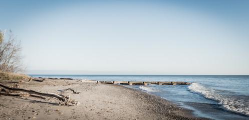 Empty beach in morning