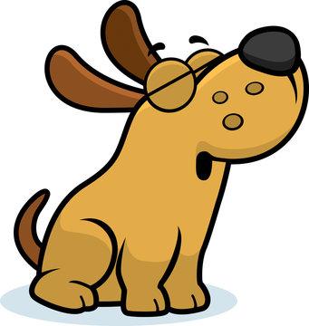 Howling Cartoon Dog