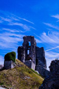 Ruin of Corfe Castle Dorset England UK
