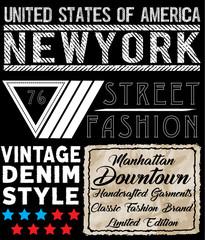 Newyork typography t shirt design
