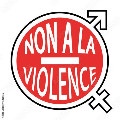 non la violence stop panneau ic ne contre la violence envers les hommes ou les femmes. Black Bedroom Furniture Sets. Home Design Ideas