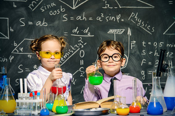 two little scientists