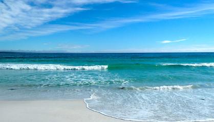 ocean sky blue clouds