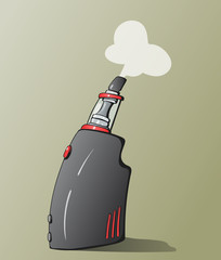 Hand-drawn vector illustration of the vaping device