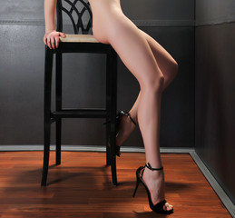 glamour woman with sexy beautiful legs