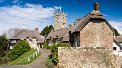 Godshill, a village on the Isle of Wight, England