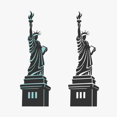 New York Statue of Liberty Symbol Vector
