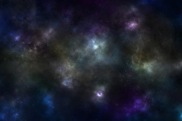 Universe with the stars and space dust background, illustration