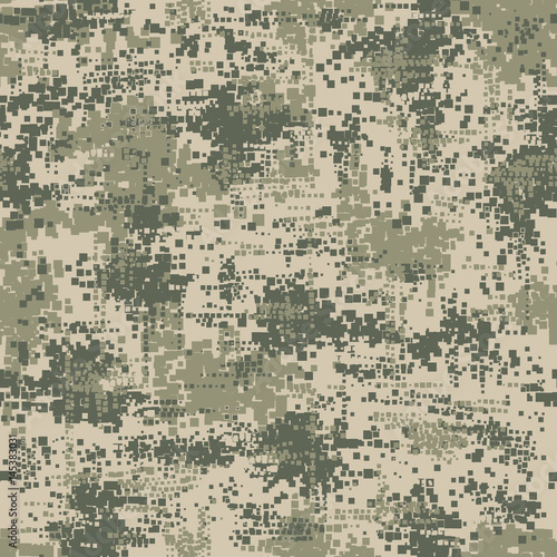 Quot Military Army Uniform Pixel Seamless Pattern Vector