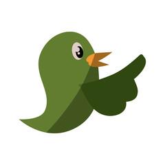 Bird cute cartoon icon vector illustration graphic design