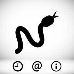 snake icon stock vector illustration flat design