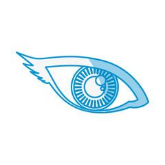 Human eye symbol icon vector illustration graphic design