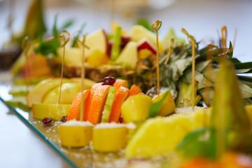 Fruit sets on a buffet