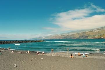 Tenerife black sand beach