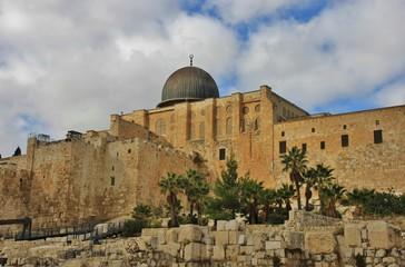 Al Aqsa Mosque in Jerusalem, Israel.