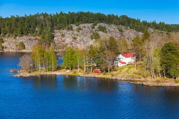 Swedish rural landscape, coastal view