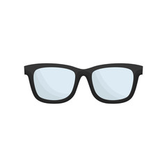 glasses icon over white background. vector illutration