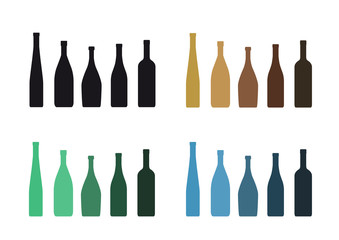 silhouettes of bottles