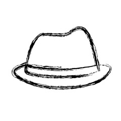 hat accessory icon over white background. vector illustration
