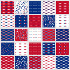 American stars seamless patterns