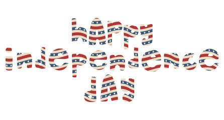 American patriotic lettering