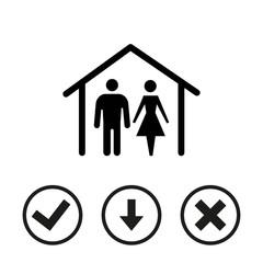 home icon stock vector illustration flat design