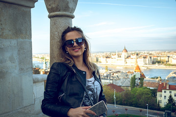 Girl on Fisherman's bastion - Budapest, Hungary