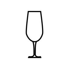 wine glass icon over white background. vector illustration