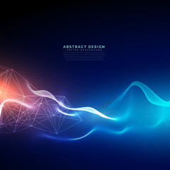 Poster Abstract wave abstract technology background with light effect