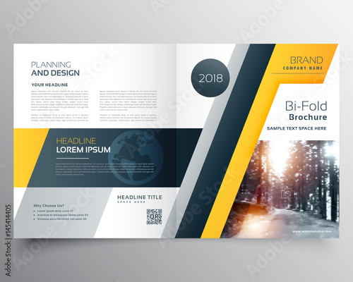 Stylish Business Bifold Brichure Or Magazine Cover Page