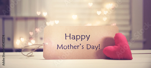 Mother's Day message with a red heart