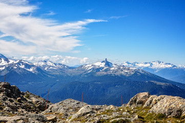 Whistler and Blackcomb mountains in Canada provide one of the best in the world all year around holiday mountain experience, and also spectacular landscapes.