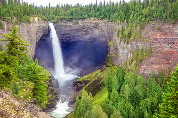 Helmcken falls is a 141m waterfall in Wells Gray provincial park in British Columbia, Canada.
