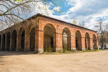 Ruined building in Vyshny Volochyok, Russia