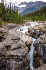Waves of ... granite at Mistaya Canyon, Banff National Park, Canada